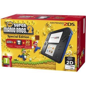 Consola Nintendo 2DS (Azul/Preto) + New Super Mario Bros. 2 (Pré-instalado) Edição Especial