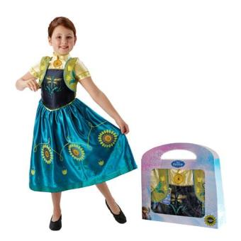 Disfarce Anna - Frozen Forever (Tamanho M 5 a 6 Anos)