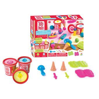 Plasticina com Aromas: Kit Gelados – 3 Potes e Acessórios - Tutti Frutti