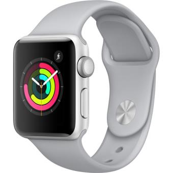 Apple Watch Series 3 38mm - Prateado | Bracelete Desportiva - Cor Nevoeiro