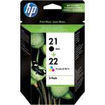 HP Pack Tinteiro Preto Nº21 + Tricolor Nº22 (SD367AE)