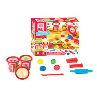 Plasticina com Aromas: Kit Hamburgueres – 3 Potes e Acessórios - Tutti Frutti