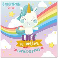 Calendário 2020 Unicorn