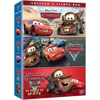 d94bf1cf8 Pack Carros 1 + 2 + Contos de Mate - Walt Disney - Compra filmes e ...