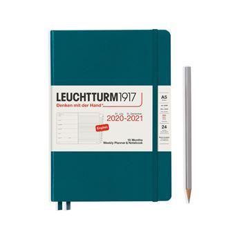 Agenda Semanal 18 Meses 2020-2021 Leuchtturm 1917 A5 Pacific Green e Notebook