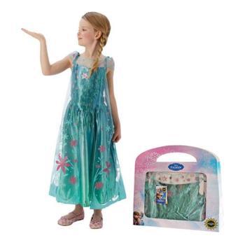 Disfarce Elsa - Frozen Forever (Tamanho M 5 a 6 Anos)
