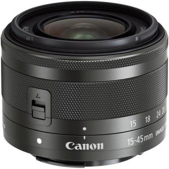 Objetiva Canon EF-M 15-45mm f/3.5-6.3 IS STM - Graphite
