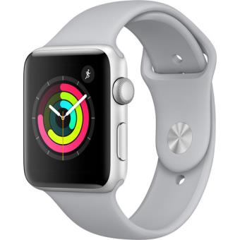 Apple Watch Series 3 42mm - Prateado | Bracelete Desportiva - Cor Nevoeiro