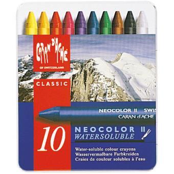Caixa Metálica 10 Lápis de Cera Neocolor II