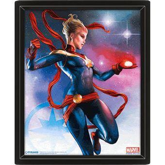 Poster 3D Lenticular Captain Marvel - Galaxy