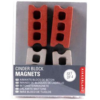 Ímanes Magnéticos - Tijolos - 4 Unidades