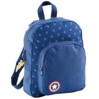 Mochila Escolar Infantil com Capa de Herói Azul