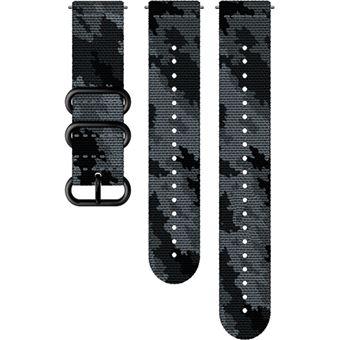 Bracelete Têxtil Suunto Explore 2 M+L - 24mm - Concrete Black