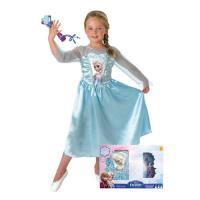 Disfarce Frozen Elsa + Microfone (Tamanho S 3 a 4 Anos)