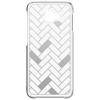 Capa Samsung Flip para Galaxy J6+ - Padrão   Cinzento