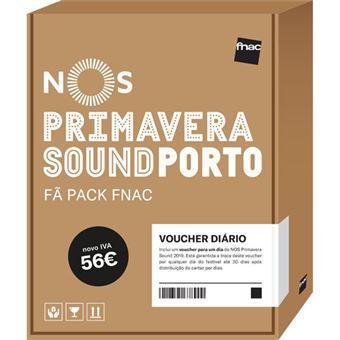 Fã Pack Fnac NOS Primavera Sound 2019 – Voucher Diário (Preço: 56€ Pack + 4.13€ Custos de Operação)
