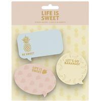 Notas Adesivas Sweet & Gold - 3 Blocos