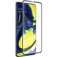 Película Ecrã Vidro Temperado 4-OK para Galaxy A80 - Preto