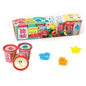 Plasticina com Aromas e Brilhantes: 3 Potes + Moldes - Tutti Frutti