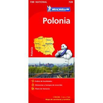 Mapa Michelin Nacional 720 - Polónia