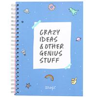 Caderno Quadriculado Mr. Wonderful - Crazy Ideas and Other Genius Stuff A4