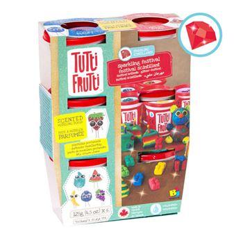 Plasticina com Aromas e Brilhantes: 6 Potes - Tutti Frutti
