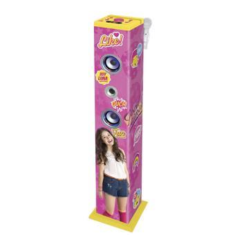 Torre de Som Bluetooth com Microfone Soy Luna Lexibook