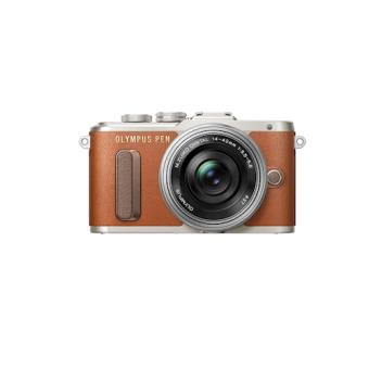 """Olympus PEN E-PL8 + 14-42mm EZ MILC 16.1MP 4/3"""" Live MOS 4608 x 3456pixels Castanho"""