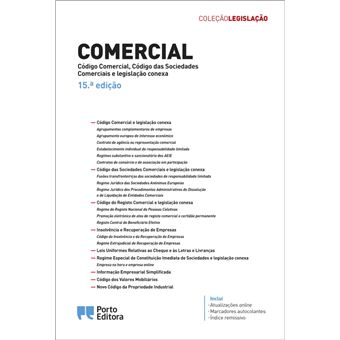 Comercial - Código Comercial, Código das Sociedades, Comerciais e Legislação Conexa