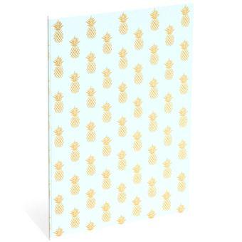 Caderno Pautado Sweet & Gold Azul A4