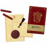 Caderno Liso, Papel de Carta, Cera e Selo Para Lacrar Harry Potter - Gryffindor