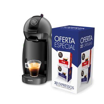 Máquina de Café Krups Dolce Gusto Piccolo - Anthracite + 32 Cápsulas