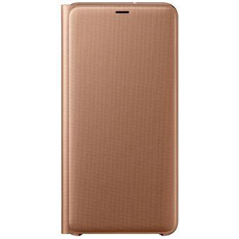 Capa Samsung Flip Wallet para Galaxy A7 - Dourado