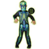 Disfarce Esqueleto Neon - Tamanho M 5 a 6 Anos - Rubies