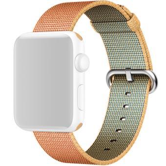 Bracelete Tecido Nylon Apple para Watch 42mm - Dourado | Vermelho
