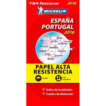mapa michelin espanha Mapa Michelin National 974 Alta Resistência   Espanha e Portugal  mapa michelin espanha
