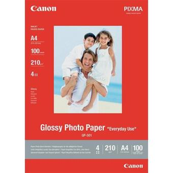 Canon Papel Foto Glossy A4 210g/m² 100F (GP-501)