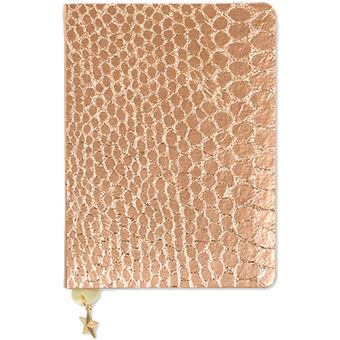 Caderno Pautado All That Glitters - Rose Copper Croc A6