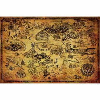 Poster The Legend Of Zelda (Hyrule Map)