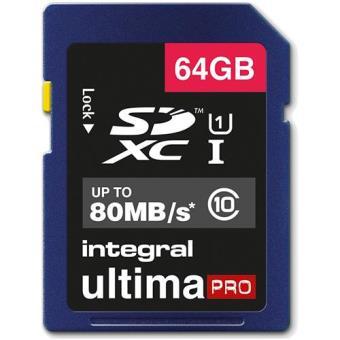 Integral Cartão SD UltimaPRO 64GB 80MB/s Classe 10