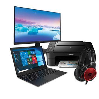 Pack Fnac Portátil Insys CD9-G156 + Monitor Philips + Impressora Canon + Auscultadores Conceptronic