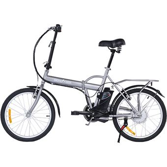 Bicicleta Elétrica Skateflash Folding E-Bike - Cinzento