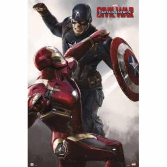 Poster Captain America Civil War VS Iron Man