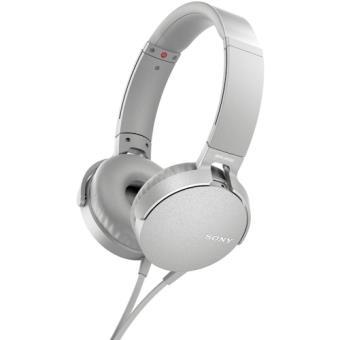 Sony MDR-XB550AP Fita de cabeça Binaural Com fios Branco auricular para telemóvel