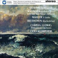 Brahms: Alt-Rhapsodie -  Wagner: Wesendonck-Lieder - Mahler: 5 Lieder - CD