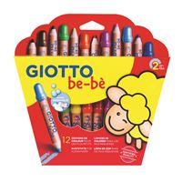 Lápis de Cor Giotto Be-Bè - 12 Unidades e Apara-Lápis