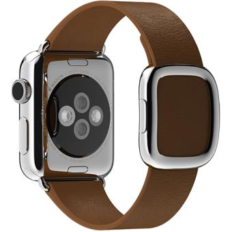 Bracelete Pele Apple para Watch 38mm - Large - Castanho