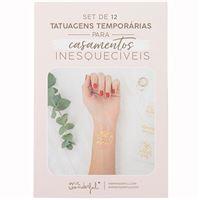 Set de 12 Tatuagens Temporárias Mr. Wondeful - Para Casamentos Inesquecíveis