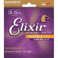 Cordas para Guitarra Acústica 11/52 - Elixir 16027
