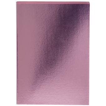 Caderno Pautado Colorblock - Metallic Pink A5